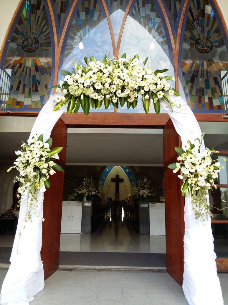 Church Wedding Decoration Checklist St Fransiskus Kuta Bali Venue Shuka