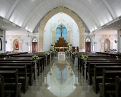 Catholic Church Maria Bunda segala Bangsa wedding