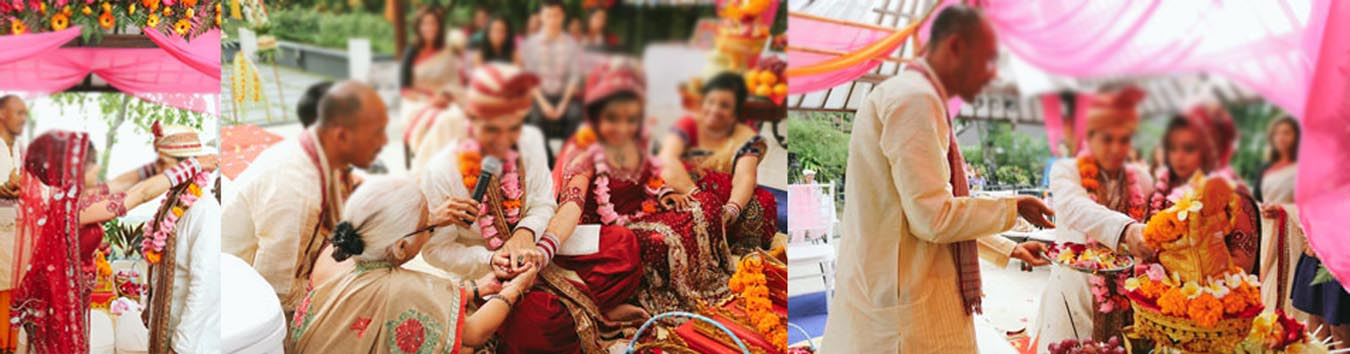 Hindu Indian wedding ceremony in Bali