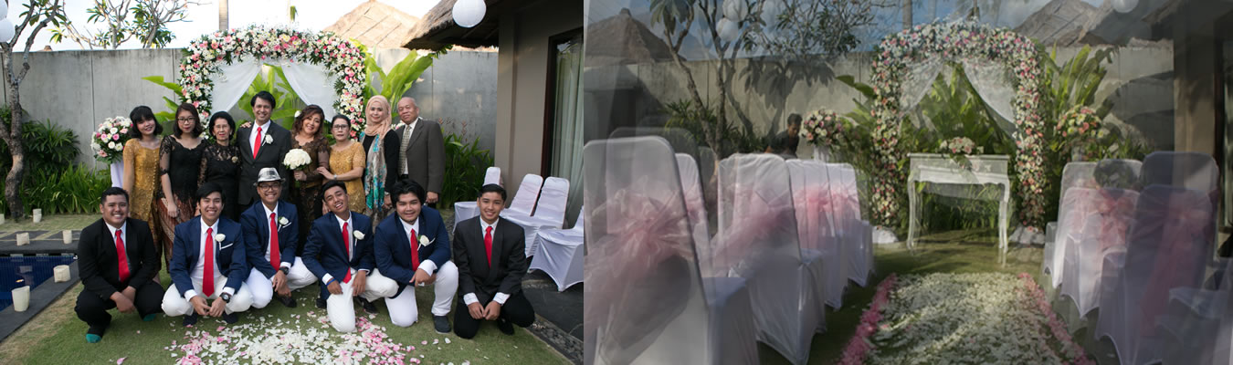 Hanna & Ady Wedding Villa Jerami