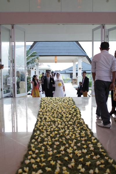 Flamingo bali wedding