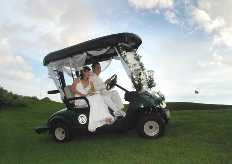 New Kuta Golf - Bali Wedding Venue | Bali Shuka Wedding Golf Cart Decorated For Wedding on ford think electric golf cart, burning man golf cart, pink golf cart,