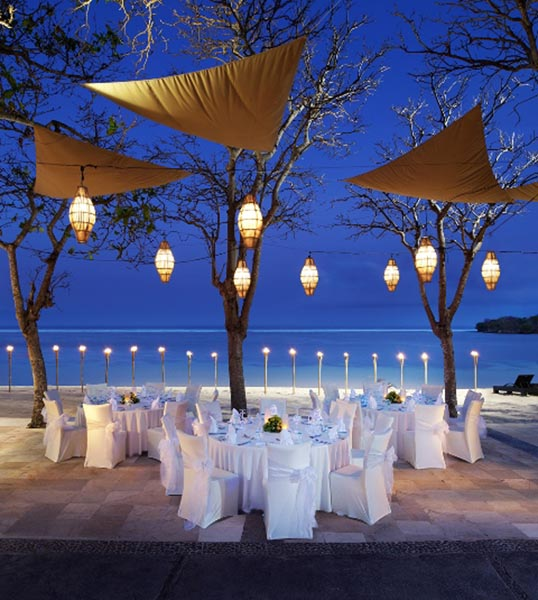 Laguna beachfront wedding