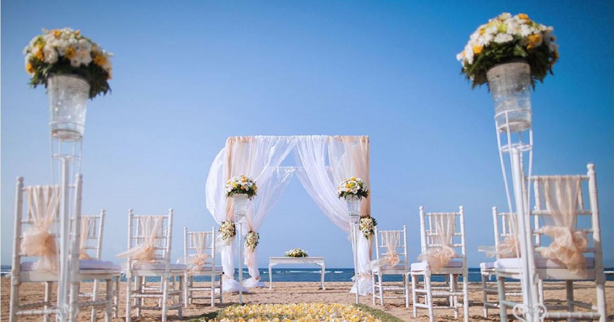 Beach Wedding Set Up Sofitel Nusa Dua