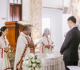 Wedding ceremony catholic church MBSB