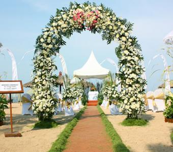 Bali Tropic Beach Wedding Ceremony