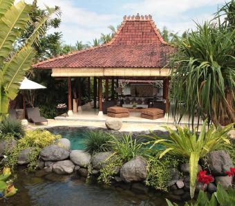 Villa Amy Living and Dining View from The Pool Bali wedding villa