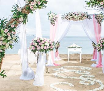 novotel benoa -beach wedding decoration