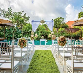 Villa wedding at Hilton Bali Resort