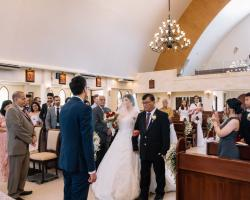 Wedding ceremony catholic church saint silvester pecatu