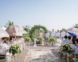 Padma Ubud Wedding Ceremony Bamboo Nest