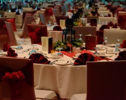 Elegance red and gold theme dinner