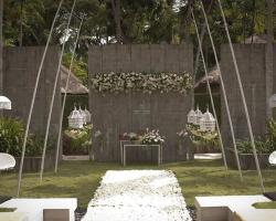 Garden wedding set up