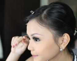 Jessica hairs do and makeup by eka