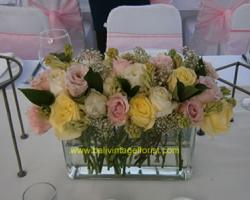 rose flower centerpiece