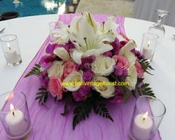 mix rose centerpiece