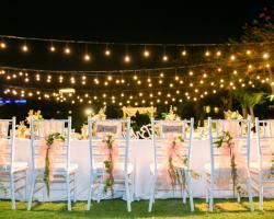 Light ball wedding decoration bali vintage florist