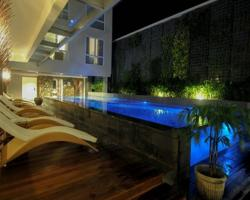 solaris kuta by the pool at night