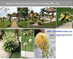 frangipani decoration - beach wedding package