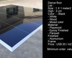 Dance floor black