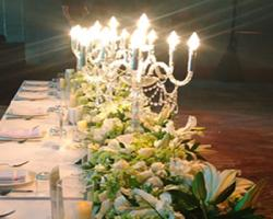 candelier on bridal table