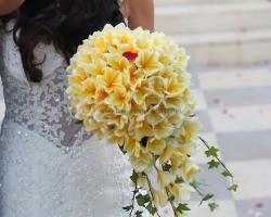 prangipani bouquet