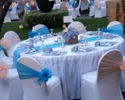 Banquet chairs dinner set up