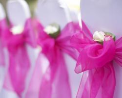 banquet chairs pink ribbon