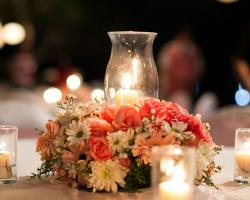 flower centerpiece guest table