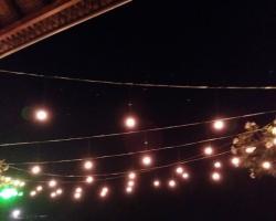 Light ball dinner reception