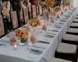 Long table centerpiece option 1