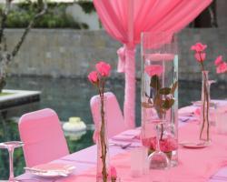 flower centerpiece wedding dinner