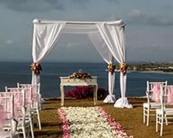 simple wedding pergola