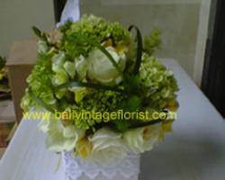 Green hydrangea centerpiece