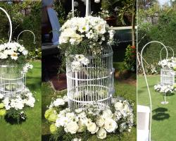standing flower cage