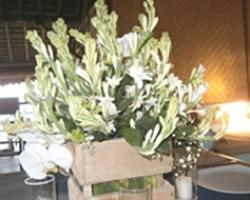 vintage flower centerpiece