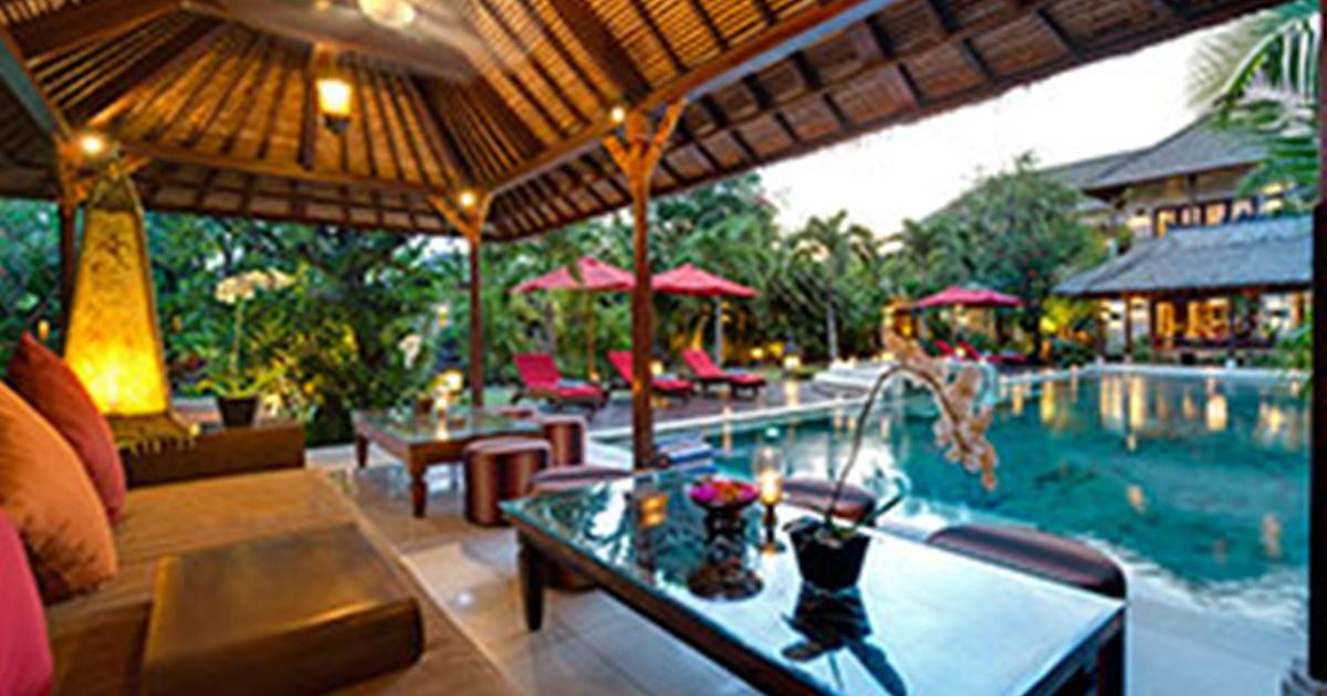 Villa Kalimaya Lounge Pavillion at Sunset Bali Villa Wedding