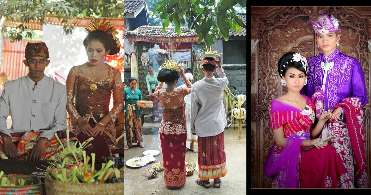 Balinese wedding tradition