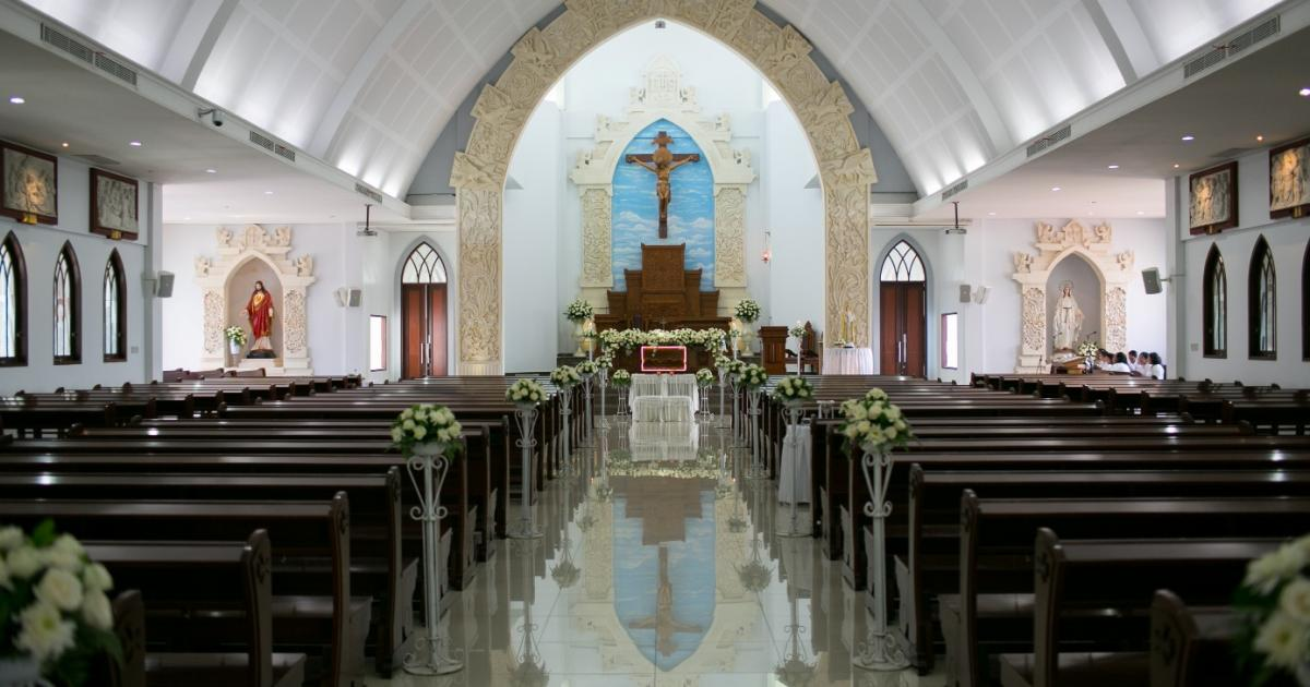 Catholic Church Maria Bunda segala Bangsa wedding