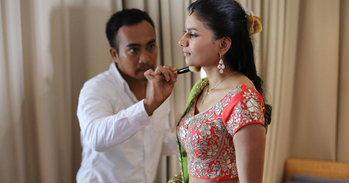 hairs do and makeup bali wedding