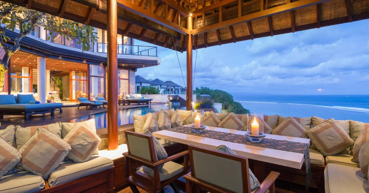 Villa Bidadari Cliffside Estate Pool Pavilion