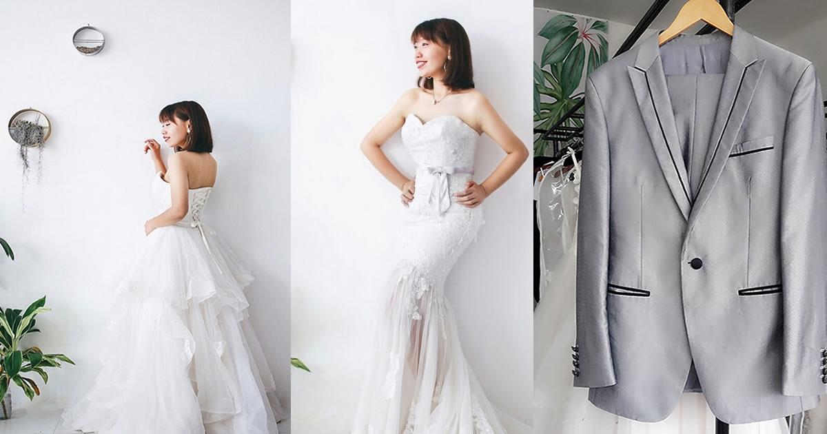 wedding gown and tuxedo rental