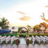 Indigo Bali Seminyak Beach pool deck sunset wedding
